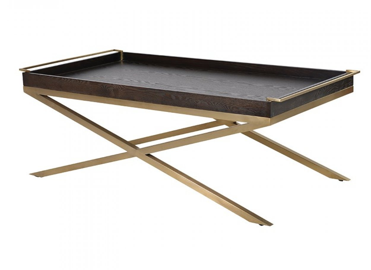 Stdlx020 Black And Gold Tray Coffee Table Charnwood Kitchens