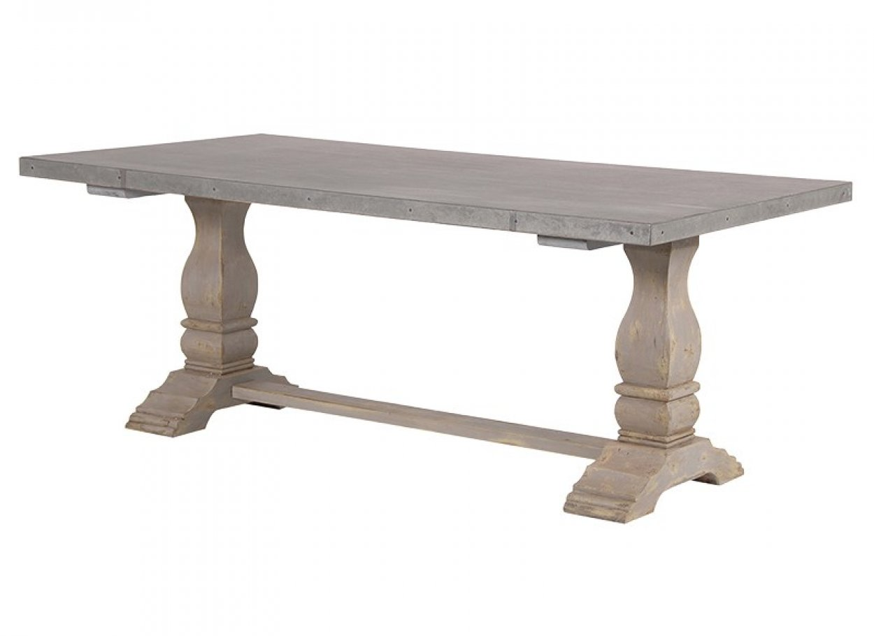 Zinc Top Distressed Dining Table Charnwood Kitchens
