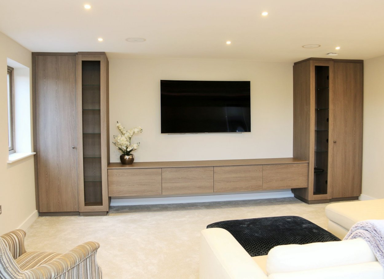 Cinema Room in Fumed Oak